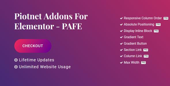Piotnet Addons Pro For Elementor
