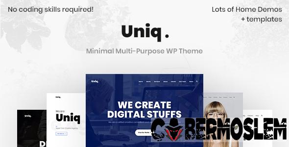 Uniq - Minimal Creative WordPress Theme