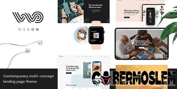 WebOn – Landing Page WordPress Theme